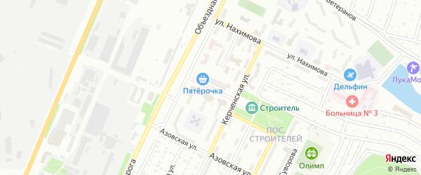 Садовый переулок на карте Миасса с номерами домов
