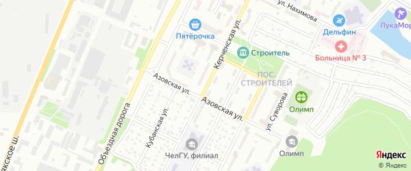 Керченская улица на карте Миасса с номерами домов