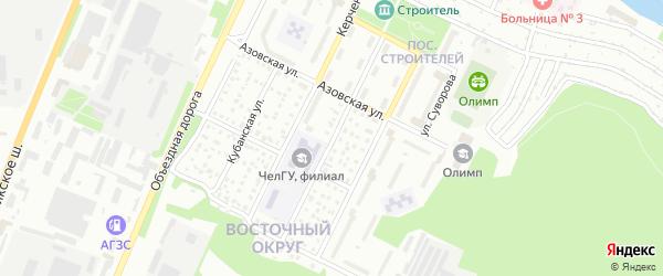 Ялтинская улица на карте Миасса с номерами домов