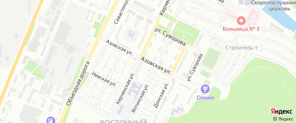 Азовская улица на карте Миасса с номерами домов