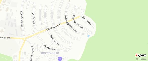 Краснодарская улица на карте Миасса с номерами домов
