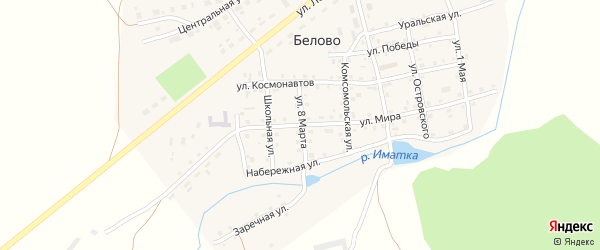 Улица Мира на карте села Белово с номерами домов