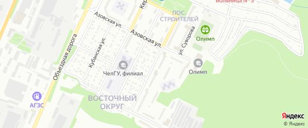 Донская улица на карте Миасса с номерами домов