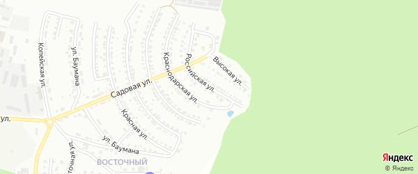 Российская улица на карте Миасса с номерами домов