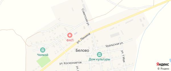 Улица Ленина на карте села Белово с номерами домов