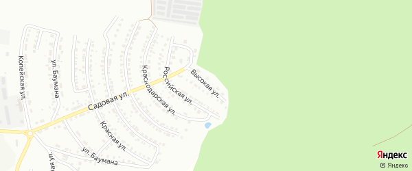 Высокая улица на карте Миасса с номерами домов