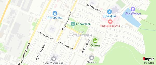 Улица Суворова на карте Миасса с номерами домов