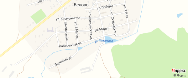 Набережная улица на карте села Белово с номерами домов