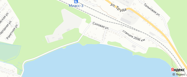 Береговая улица на карте поселка Тургояка с номерами домов