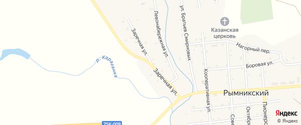 Заречная улица на карте Рымникского поселка с номерами домов