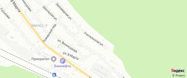 Учительская улица на карте Миасса с номерами домов