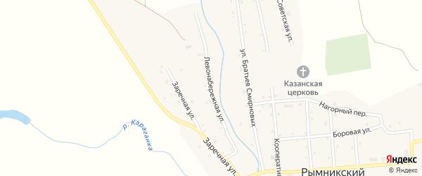 Левонабережная улица на карте Рымникского поселка с номерами домов