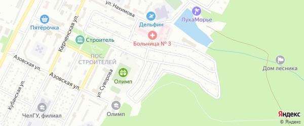 Сад Строитель 2 на карте Челябинска с номерами домов
