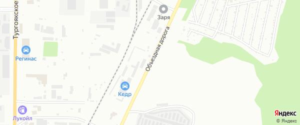 Улица Объездная дорога на карте Миасса с номерами домов