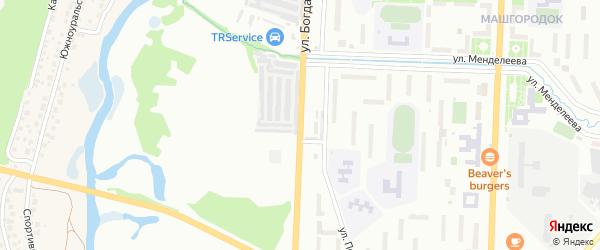 Улица Богдана Хмельницкого на карте Миасса с номерами домов