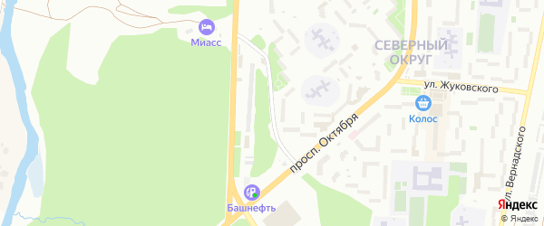 Улица Уральских Добровольцев на карте Миасса с номерами домов