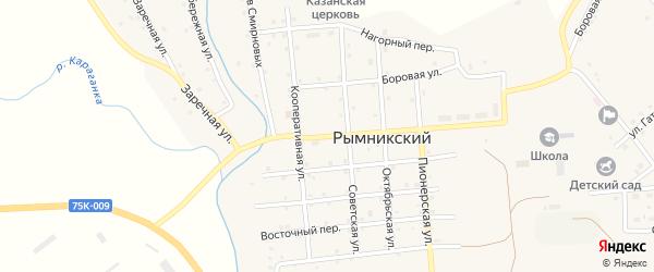 Центральная улица на карте Рымникского поселка с номерами домов
