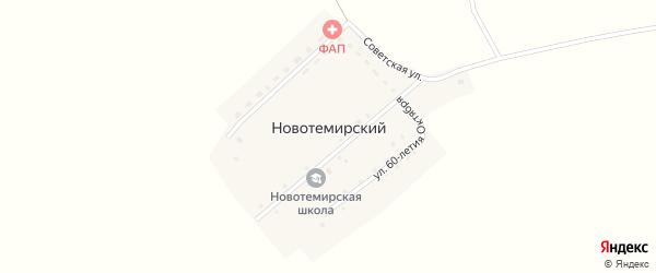 Улица 60 лет Октября на карте Новотемирского поселка с номерами домов