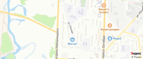 Улица Попова на карте Миасса с номерами домов