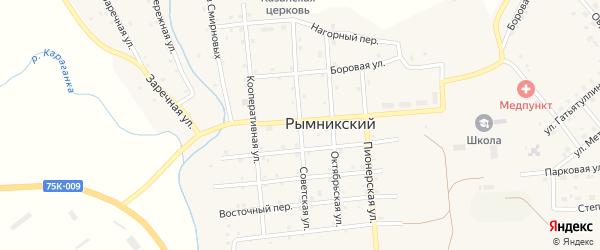 Советская улица на карте Рымникского поселка с номерами домов