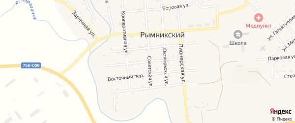 Строительный переулок на карте Рымникского поселка с номерами домов