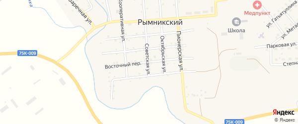 Восточный переулок на карте Рымникского поселка с номерами домов