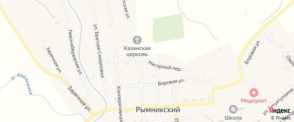 Нагорный переулок на карте Рымникского поселка с номерами домов