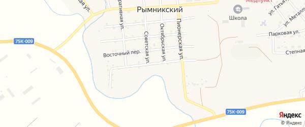 Самарский переулок на карте Рымникского поселка с номерами домов