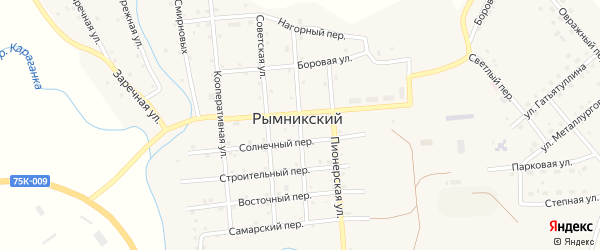 Октябрьская улица на карте Рымникского поселка с номерами домов