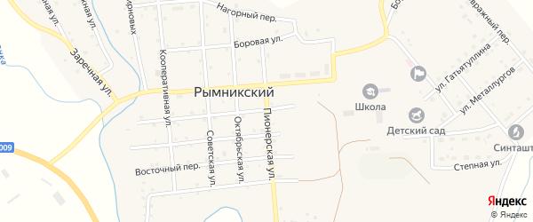 Пионерская улица на карте Рымникского поселка с номерами домов