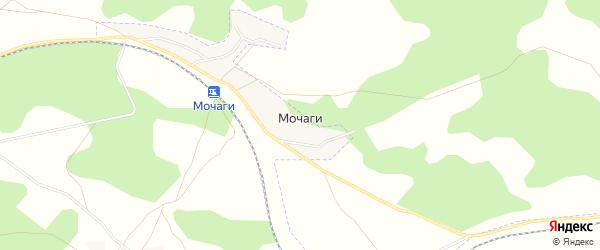 Карта поселка Мочаги в Челябинской области с улицами и номерами домов