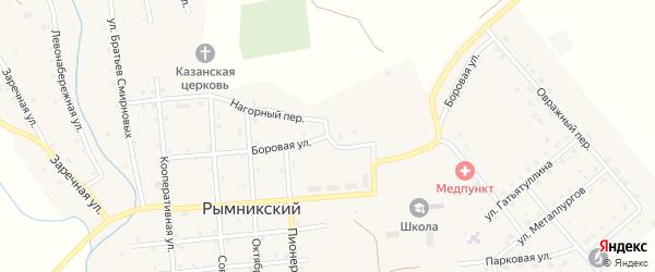 Боровая улица на карте Рымникского поселка с номерами домов
