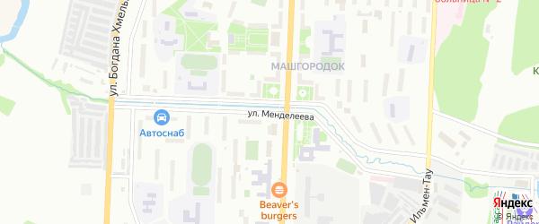 Улица Менделеева на карте Миасса с номерами домов
