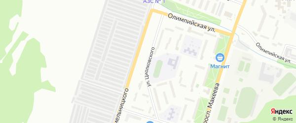 Улица Циолковского на карте Миасса с номерами домов