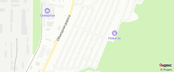 Сад СНТ Ильмены на карте Миасса с номерами домов