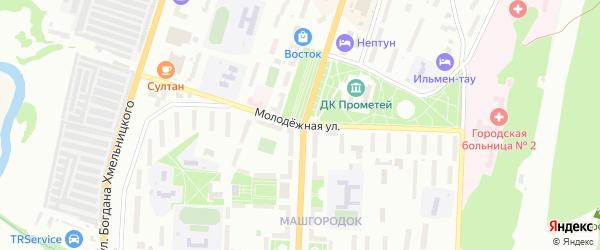 Молодежная улица на карте села Смородинки с номерами домов