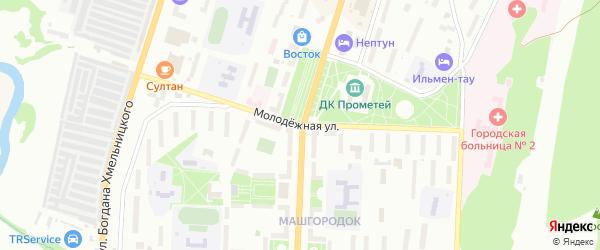 Молодежная улица на карте Миасса с номерами домов