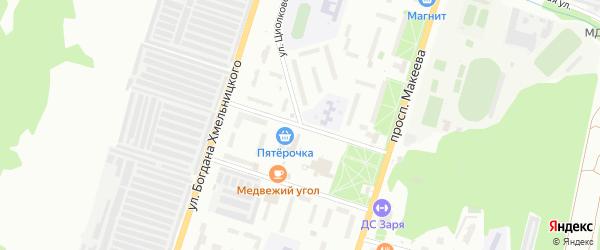Улица Добролюбова на карте Миасса с номерами домов
