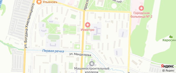 Территория ГСК 3 Северный НПОЭ на карте Миасса с номерами домов