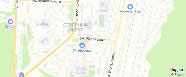 Улица Жуковского на карте Миасса с номерами домов