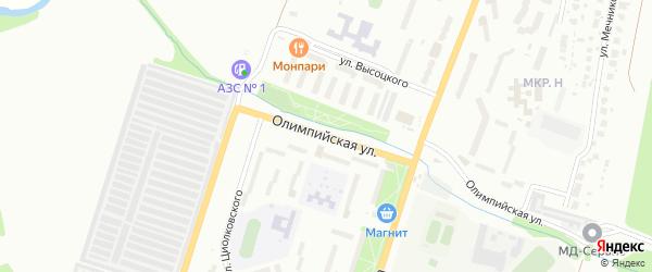 Олимпийская улица на карте Миасса с номерами домов