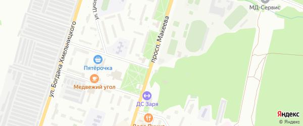 Проспект Макеева на карте Миасса с номерами домов