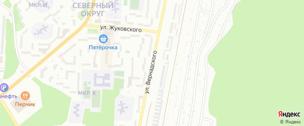 Улица Вернадского на карте Миасса с номерами домов