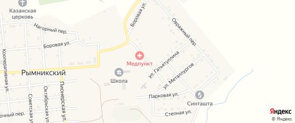 Светлый переулок на карте Рымникского поселка с номерами домов