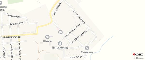 Улица Гатьятуллина на карте Рымникского поселка с номерами домов