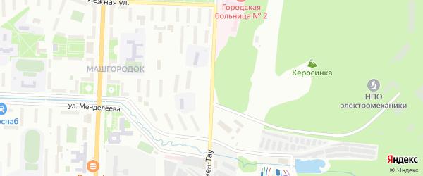 Улица Ильмен-Тау на карте Миасса с номерами домов