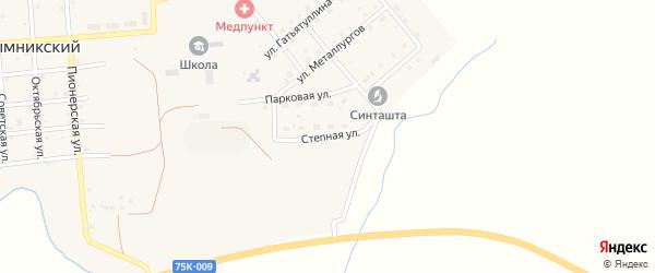 Степная улица на карте Рымникского поселка с номерами домов