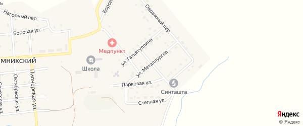 Улица Металлургов на карте Рымникского поселка с номерами домов