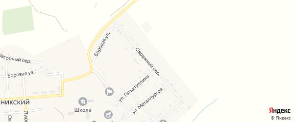 Овражный переулок на карте Рымникского поселка с номерами домов