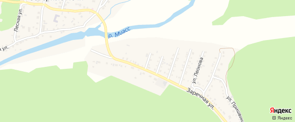Сплавная улица на карте поселка Северные Печи с номерами домов